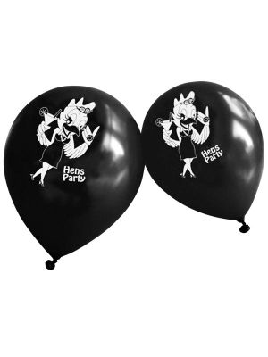 Black Hens Party Balloons