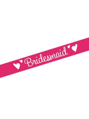 Pink Bridesmaid Sash