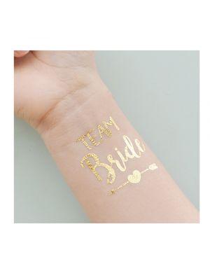 Gold Team Bride Arrow Tattoo