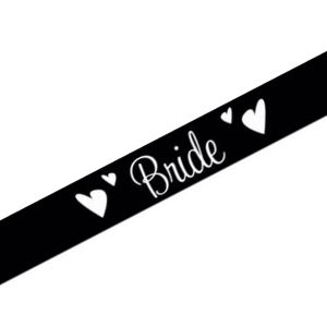 Black Bride Sash