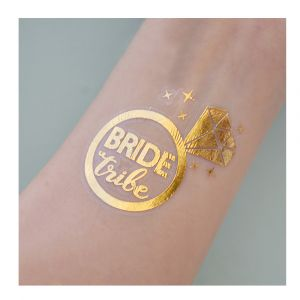 Gold Bride Tribe Diamond Ring Tattoo