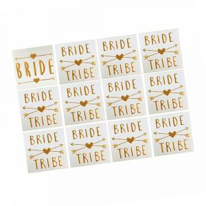 Gold Bride Tribe Tattoos set