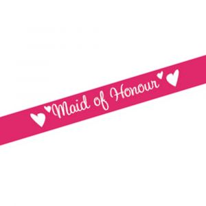 Pink Maid of Honour Sash