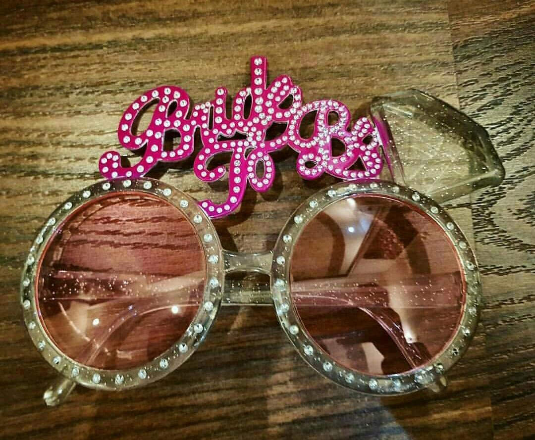 Bride to Be Sunglasses to Let Everyone Know Who the Hen of the Party Is